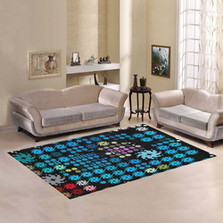 Color Party 02 by JamColors Area Rug7'x5'