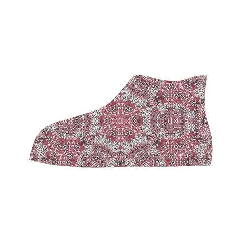 Batik Maharani #5A - Jera Nour Men's Classic High Top Canvas Shoes /Large Size (Model 017)