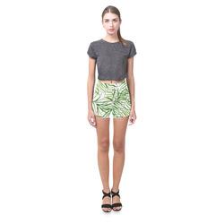 Tropical leaves Briseis Skinny Shorts (Model L04)