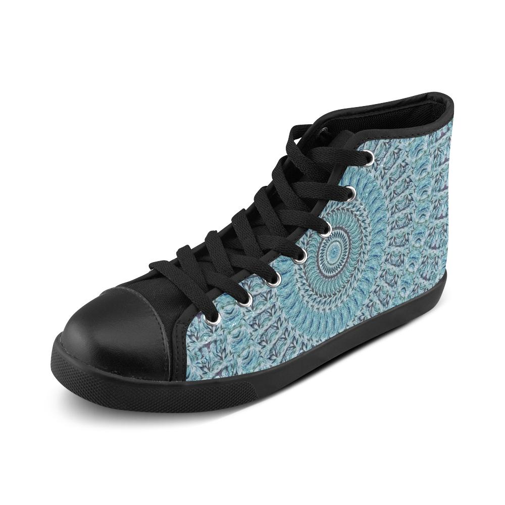 Batik Maharani #1 - Jera Nour High Top Canvas Women's Shoes/Large Size (Model 002)