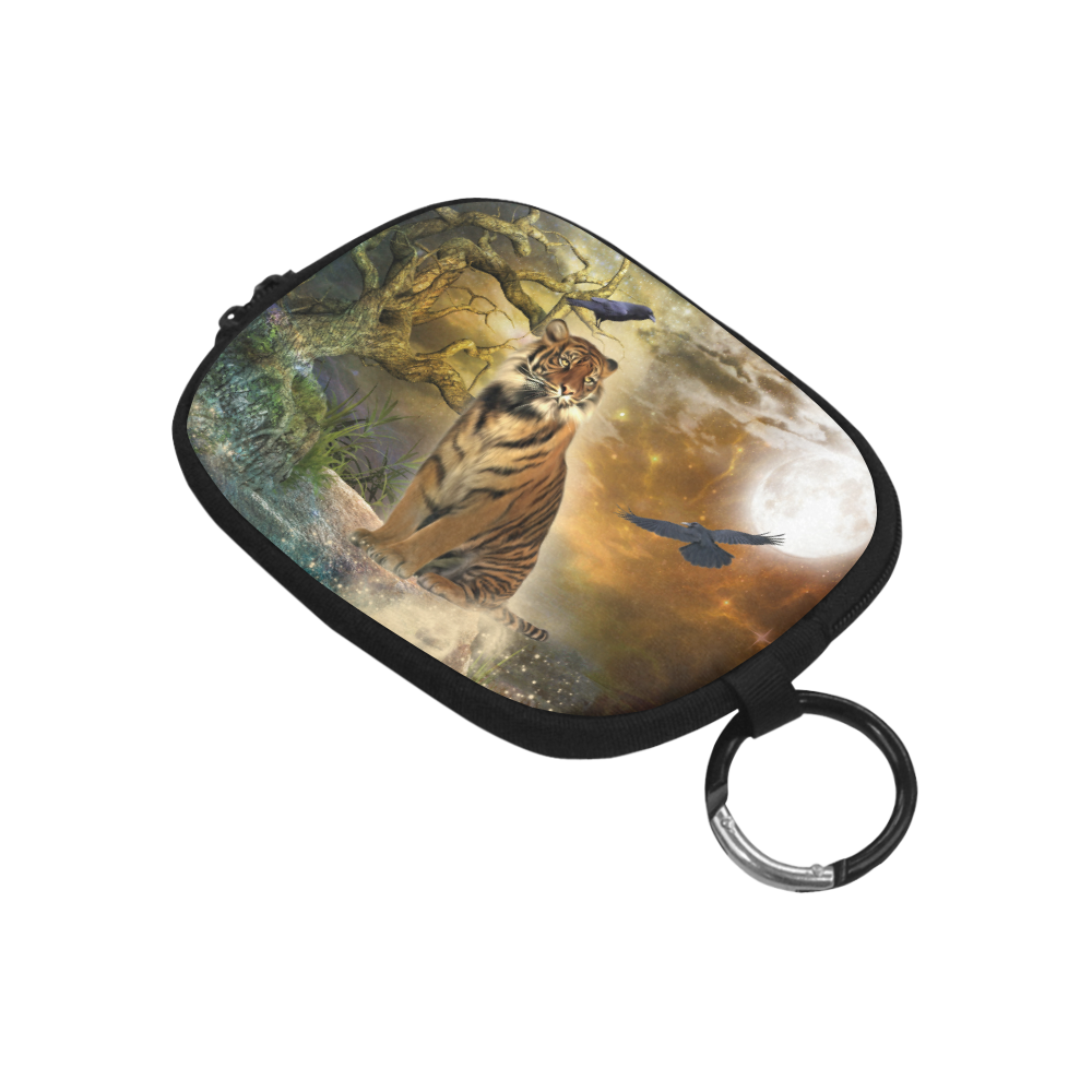 Awesome itger in the night Coin Purse (Model 1605)