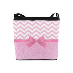 Pink Glitter, Pink Chevron, Pink Bow Crossbody Bags (Model 1613)