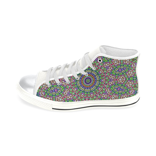 Batik Maharani #2A - Jera Nour High Top Canvas Women's Shoes/Large Size (Model 017)