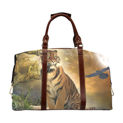 Awesome itger in the night Classic Travel Bag (Model 1643) Remake