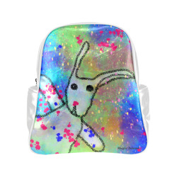 Hi Rabbit! Inspired by the Magic Island of Gotland. Multi-Pockets Backpack (Model 1636)