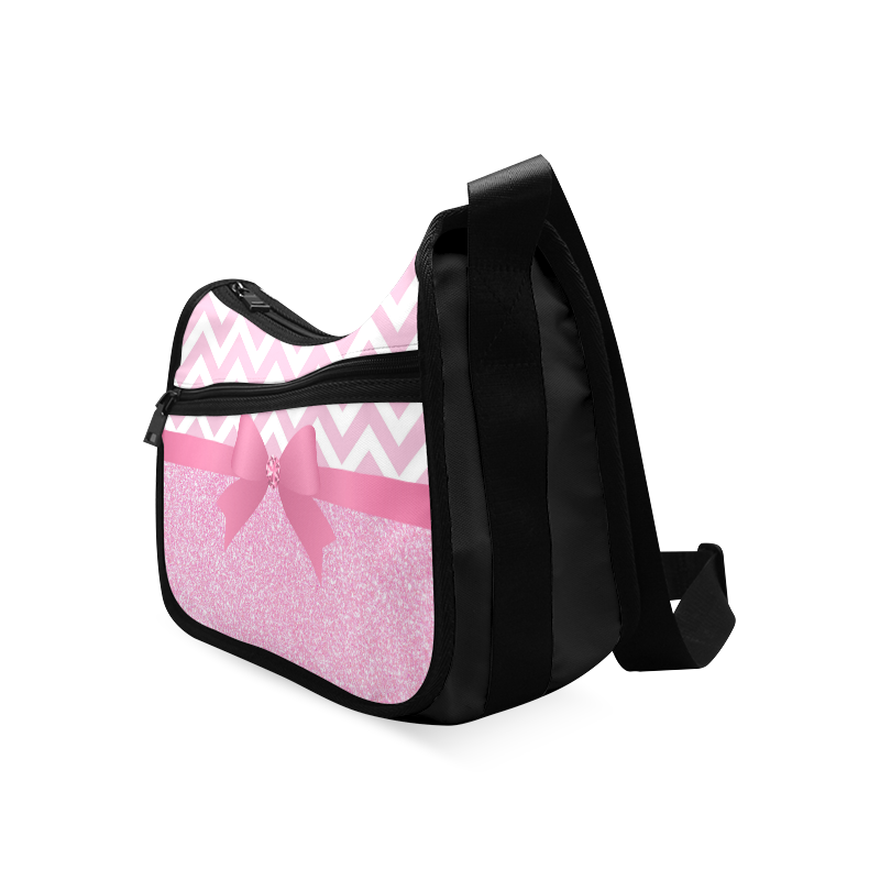 Pink Glitter, Pink Chevron, Pink Bow Crossbody Bags (Model 1616)