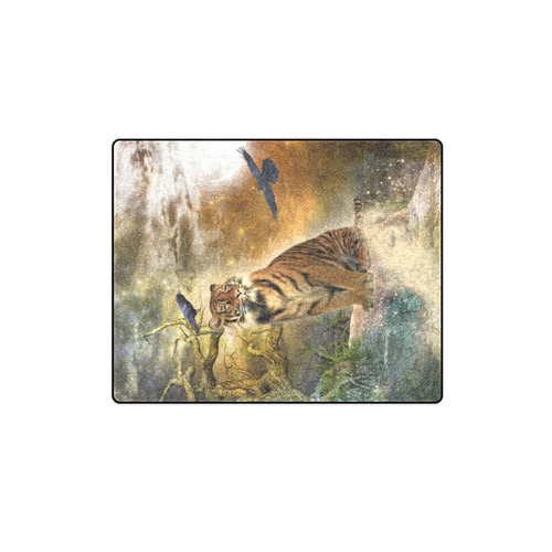 """Awesome itger in the night Blanket 40""""x50"""""""