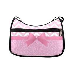 Pink Glitter, Pink Chevron, Pink Bow Crossbody Bags (Model 1616)