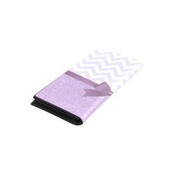 Purple Glitter, Purple Chevron, Purple Bow Women's Leather Wallet (Model 1611)