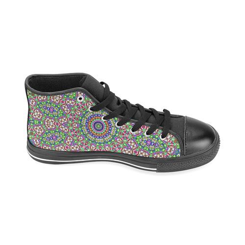 Batik Maharani #2A - Jera Nour Men's Classic High Top Canvas Shoes /Large Size (Model 017)