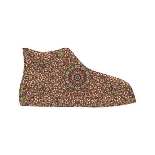 Batik Maharani #2B - Jera Nour Men's Classic High Top Canvas Shoes /Large Size (Model 017)