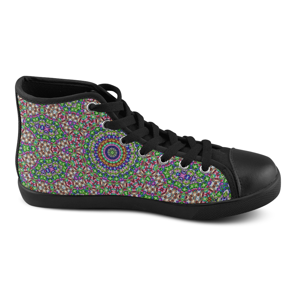 Batik Maharani #2A - Jera Nour High Top Canvas Women's Shoes/Large Size (Model 002)