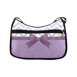 Purple Glitter, Purple Chevron, Purple Bow Crossbody Bags (Model 1616)
