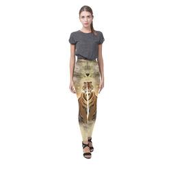 Awesome itger in the night Cassandra Women's Leggings (Model L01)
