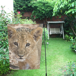 BABY lion Garden Flag 12''x18''(Without Flagpole)