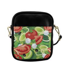 Fruits and Vegetables Food Pattern Sling Bag (Model 1627)
