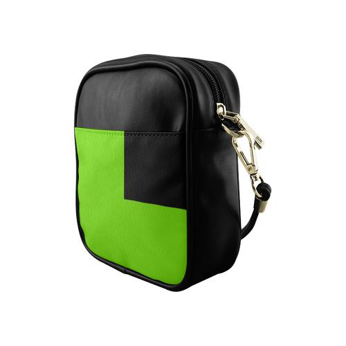 Lime Green and Black Sling Bag (Model 1627)
