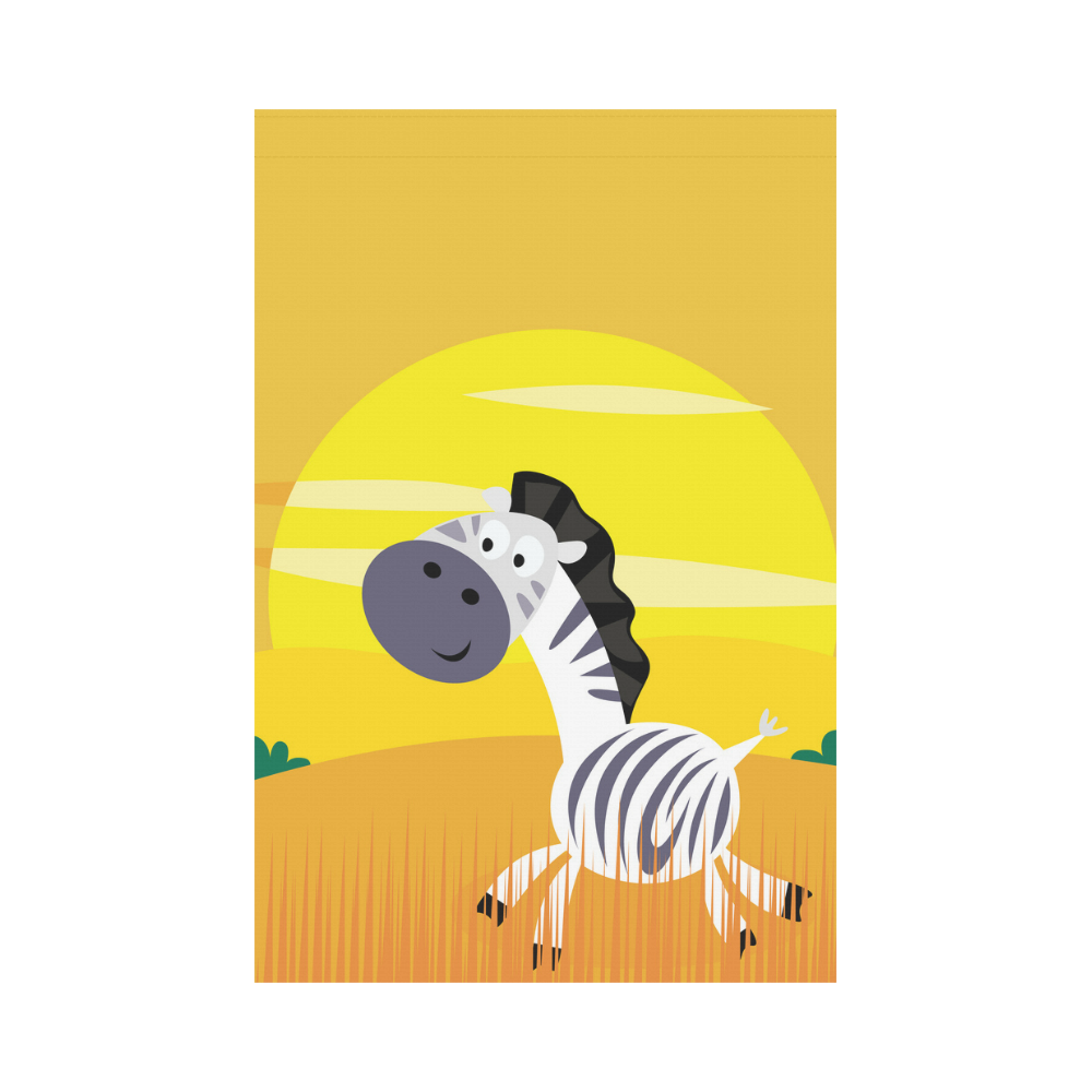 Flag with Yellow ZEBRA : Africa Collection Garden Flag 12''x18''(Without Flagpole)