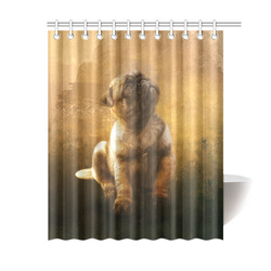 """Cute painting pug puppy Shower Curtain 60""""x72"""""""