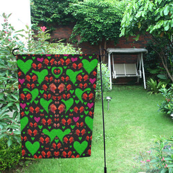 love hearts and roses Garden Flag 12''x18''(Without Flagpole)