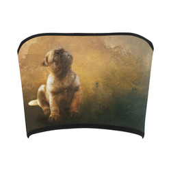 Cute painting pug puppy Bandeau Top