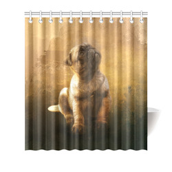 """Cute painting pug puppy Shower Curtain 66""""x72"""""""