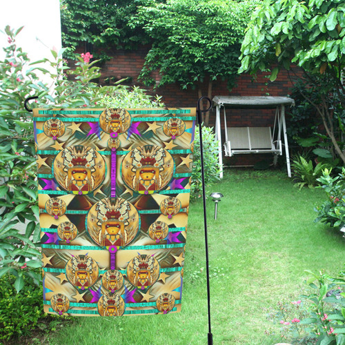 lady with bat and hat Garden Flag 12''x18''(Without Flagpole)