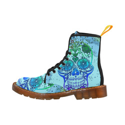 psychedelic Pop Skull 317D by JamColors Martin Boots For Women Model 1203H