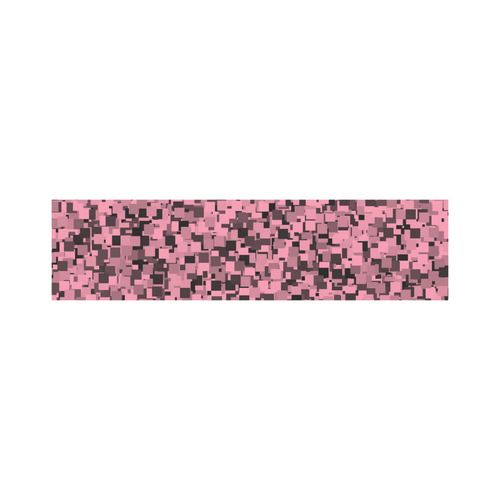 Pink and Gray Pixels Cosmetic Bag/Large (Model 1658)