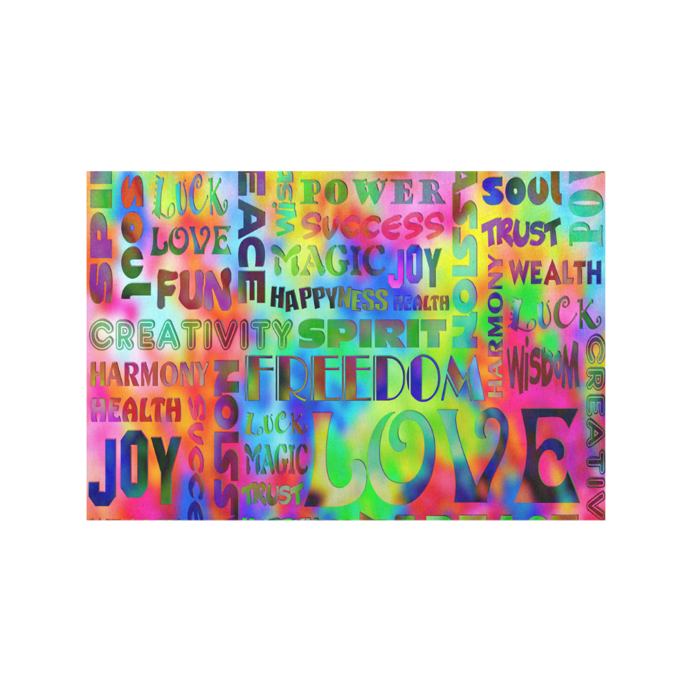 Flower Power - WORDS OF THE SPIRIT WAY Placemat 12''x18''