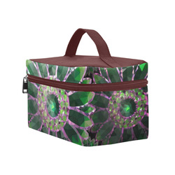 Mosaic Flower Pattern Cosmetic Bag/Large (Model 1658)