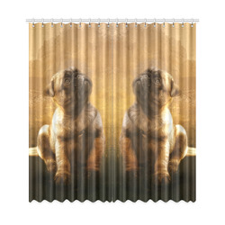 "Cute painting pug puppy Window Curtain 50""x108""(Two Piece)"