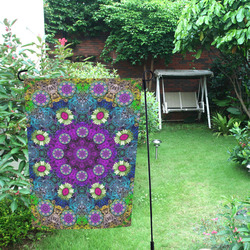 Colors and flowers in a mandala Garden Flag 12''x18''(Without Flagpole)