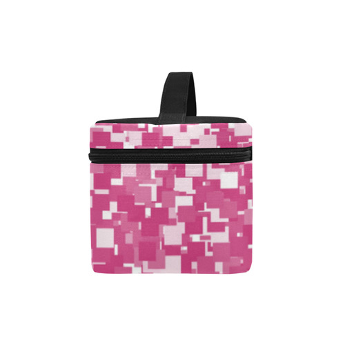 Pink Yarrow Pixels Cosmetic Bag/Large (Model 1658)