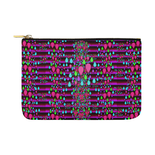 Raining rain and mermaid shells Pop art Carry-All Pouch 12.5''x8.5''