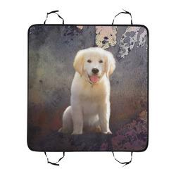 A cute painting golden retriever puppy New Pet Car Seat 55''x58''