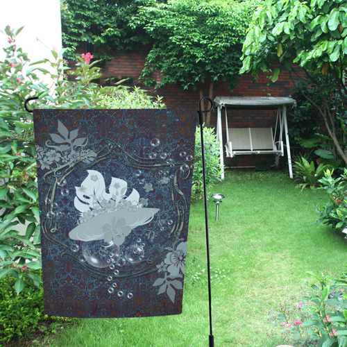 Sport surfboard and flowers Garden Flag 12''x18''(Without Flagpole)