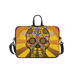psychedelic Pop Skull 317A by JamColors Laptop Handbags 17""
