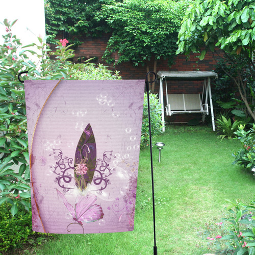 Sport, surfing in purple colors Garden Flag 12''x18''(Without Flagpole)