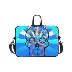psychedelic Pop Skull 317B by JamColors Laptop Handbags 17""