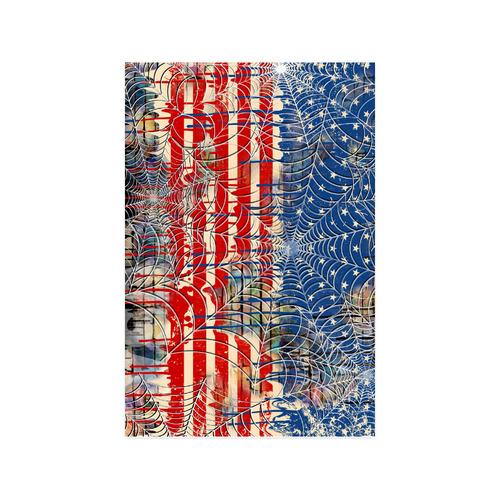 "Patriot USA Flag Dripping Cobweb Poster Poster 20""x30"""