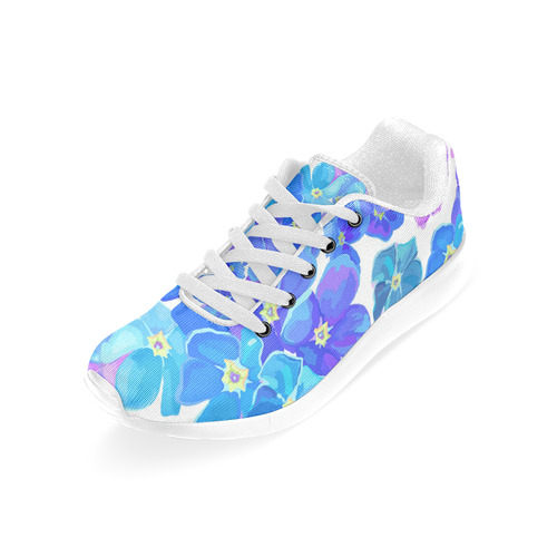 Vintage Floral - Bright blue and Purple Women's Running Shoes (Model 020)