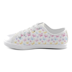 Pretty Colorful Butterflies Canvas Kid's Shoes (Model 016)