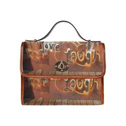 Live Love Laugh Graffiti Waterproof Canvas Bag/All Over Print (Model 1641)