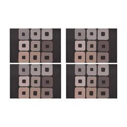 All shades of coffee. Brown squared pattern Placemat 12'' x 18'' (Four Pieces)