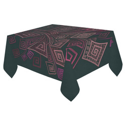 """Psychedelic 3D Square Spirals - pink and orange Cotton Linen Tablecloth 52""""x 70"""""""