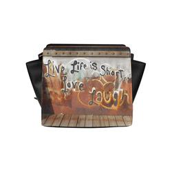 Live Love Laugh Graffiti Satchel Bag (Model 1635)