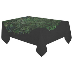 "3D Psychedelic Abstract Fantasy Tree Greenery Cotton Linen Tablecloth 60""x 104"""