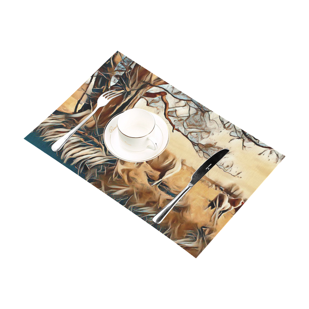 Farmers Lovely World Placemat 12'' x 18'' (Six Pieces)