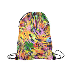"""Chaos Puzzle by Popart Lover Large Drawstring Bag Model 1604 (Twin Sides)  16.5""""(W) * 19.3""""(H)"""